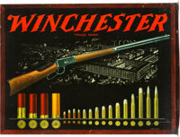 Winchester Ammunition Metal Advertising Sign