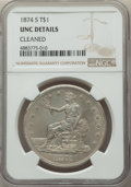 Trade Dollars, 1874-S T$1 -- Cleaned -- NGC Details. Unc. NGC Census: (17/207). PCGS Population: (18/251). MS60. Mintage 2,549,000....