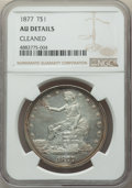 Trade Dollars, 1877 T$1 -- Cleaned -- NGC Details. AU. NGC Census: (23/443). PCGS Population: (45/507). AU50. Mintage 3,039,710....