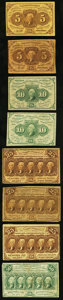 Fractional Currency:First Issue, A Selection of Eight First Issue Fractional Notes Very Good or Better.. ... (Total: 8 notes)
