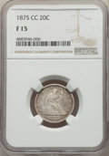 1875-CC 20C Fine 15 NGC. NGC Census: (62/743). PCGS Population: (115/1312). CDN: $340 Whsle. Bid for problem-free NGC/PC...