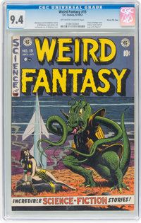 Weird Fantasy #15 Gaines File Pedigree (EC, 1952) CGC NM 9.4 Off-white to white pages