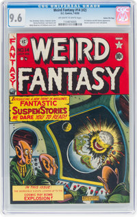 Weird Fantasy #14 (#2) Gaines File Pedigree 5/10 (EC, 1950) CGC NM+ 9.6 Off-white to white pages