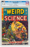 Golden Age (1938-1955):Science Fiction, Weird Science #9 Gaines File Pedigree 6/12 (EC, 1951) CGC NM 9.4White pages....