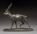 Sculpture, Antoine-Louis Barye (French, 1796-1875). Cerf du Gange. Bronze with brown patina. 6-1/4 inches (15.9 cm) high. Inscribed...