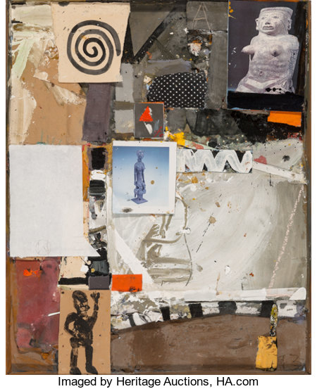 James Havard (American, b. 1937) Crosscultural, 1993 Mixed media on board with collage 40-1/2 x 32-1/2 inches (102.9 ...