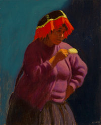 Elias J. Rivera (American, b. 1937) Group of Ten Works from Portraits of Peru, 2001 (four) and Windo