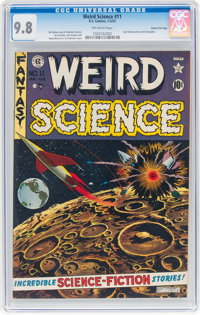 Weird Science #11 Gaines File Pedigree 9/12 (EC, 1952) CGC NM/MT 9.8 Off-white pages