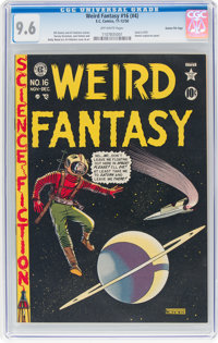 Weird Fantasy #16 (#4) Gaines File Pedigree 1/11 (EC, 1950) CGC NM+ 9.6 Off-white pages