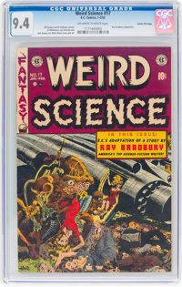 Weird Science #17 Gaines File Pedigree 5/9 (EC, 1953) CGC NM 9.4 Off-white to white pages