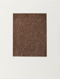 Mark Tobey (1890-1976) Psaltery, 1st Form, 1974 Etching on BFK Rives paper 25-5/8 x 19-5/8 inches