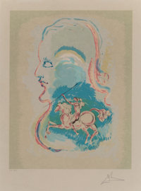Salvador Dalí (1904-1989) Dream of a Horseman, 1979 Lithograph in colors on Japon paper 23 x 17-7