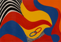 Alexander Calder (1898-1976) Untitled, from the Flying Colors Series, 1973 Lithograph in