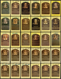 Massive Collection of Signed Hall of Fame Plaque Postcards (500+) from the Enos Slaughter Collection