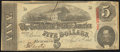Confederate Notes:1863 Issues, T60 $5 1863 PF-27 Cr. 464 Very Fine-Extremely Fine.. ...