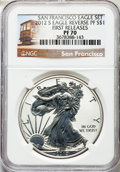 2012-S $1 Reverse Proof Silver Eagle, 75th Anniversary Set, First Releases PF70 NGC. NGC Census: (4111). PCGS Population...