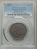 Large Cents, 1839 1C Booby Head -- Tooled -- PCGS Genuine. XF Details. NGC Census: (6/104). PCGS Population: (26/178). CDN: $200 Whsle. ...