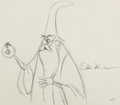 Animation Art:Production Drawing, The Sword in the Stone Merlin Animation Drawing (WaltDisney, 1963). ...