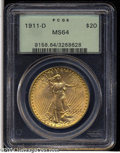 Saint-Gaudens Double Eagles: , 1911-D $20 MS64 PCGS....