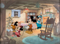 Animation Art:Limited Edition Cel, Mickey's Christmas Carol Mickey Mouse and Bob Cratchit Limited Edition Cel #190/500 (Walt Disney, 1983)....
