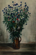 Paintings:Contemporary   (1950 to present), Gaston Sebire (French, 1920-2001). Still life with Flowers. Oil on canvas. 57-3/8 x 38-1/2 inches (145.7 x 97.8 cm). Sig...