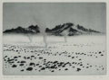 Prints & Multiples:Print, George Elbert Burr (American, 1859-1939). Whirlwinds, Mojave Desert No. 1, c. 1920. Etching and drypoint on wove paper. ...