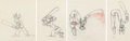 Animation Art:Production Drawing, How to Play Baseball Goofy 4 Animation Drawings in 2 FramedDisplays Group (Walt Disney, 1942).... (Total: 2 Items)