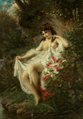 Paintings:Antique  (Pre 1900), Anton Ebert (German, 1845-1896). Spring in the woods, 1875. Oil on canvas. 41-3/4 x 29-3/8 inches (105.9 x 74.7 cm). Sig...