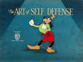 Animation Art:Production Cel, The Art of Self Defense Goofy Preliminary Title Production Cel on Key Master Background (Walt Disney, 1941)....