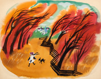 Mary Blair So Dear to My Heart Tildy and Danny Concept Painting Original Art (Walt Disney, 1949)