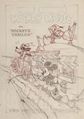 Animation Art:Concept Art, Mickey's Trailer Mickey Mouse and Friends Poster Design Concept Art by Hank Porter (Walt Disney, 1938).... (Total: 2 Items)