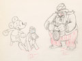 Animation Art:Production Drawing, Society Dog Show Mickey Mouse Pluto and Judge AnimationDrawing (Walt Disney, 1939)....