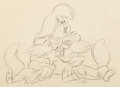 Animation Art:Concept Art, Peter Pan Cubby and Raccoon Twins Concept Drawing (Walt Disney, 1953). ...