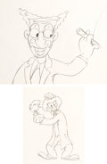 Animation Art:Limited Edition Cel, The Autograph Hound Groucho and Harpo Marx AnimationDrawings Group of 2 (Walt Disney, 1939). ... (Total: 2 OriginalArt)