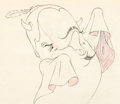 Animation Art:Production Drawing, Make Mine Music Willie the Whale Animation Drawing (WaltDisney, 1946)....