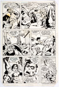 Original Comic Art:Panel Pages, Rich Buckler and Mike Gustovich World's Finest #286 Story Page 16 Batman and Robin Original Art (DC, 1982)....