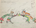 Animation Art:Production Cel, Woodland Cafe Color Model/Animation Drawing (Walt Disney, 1937). ...