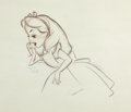 Animation Art:Production Drawing, Alice in Wonderland Animation Drawing (Walt Disney, 1951). ...