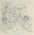 Animation Art:Production Drawing, The Art of T. Hee Marx Brothers Caricatures (Walt Disney, c.1930s/'40s)....