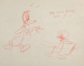 Animation Art:Concept Art, Ain't That Ducky Daffy Duck Layout Drawing (Warner Brothers, 1945)....