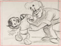 Animation Art:Production Drawing, Pinocchio Geppetto and Pinocchio Animation Drawing (WaltDisney, 1940)....