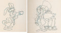 "Animation Art:Production Drawing, Disneyland ""Alice in Wonderland"" Ride Update Drawing (Walt Disney, 1983)...."