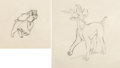 Animation Art:Production Drawing, Lady and the Tramp Animation Drawings Group of 2 (WaltDisney, 1955).... (Total: 2 Original Art)
