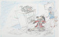 Animation Art:Concept Art, Hong Kong Phooey Layout/Concept Drawings Group of 6 (Hanna-Barbera, 1974).... (Total: 6 Original Art)