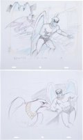 Animation Art:Concept Art, Birdman and the Galaxy Trio Character Design Drawings Group of 4 (Hanna-Barbera, 1967). ... (Total: 4 Original Art)
