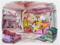Animation Art:Concept Art, The Prince and the Pauper Mickey Mouse and Goofy Group of 2 (Walt Disney, 1990).... (Total: 2 Original Art)