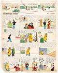 Original Comic Art:Comic Strip Art, Harry J. Tuthill The Bungle Family and Little Brother Sunday Comic Strip Original Art dated 11-25-28 (...