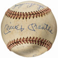 Autographs:Baseballs, Circa 1990 New York Yankees Multi Signed Reunion Baseball from TheEnos Slaughter Collection....