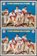 """Autographs:Others, 1996 """"St. Louis Cardinals Hall of Famers"""" Multi-Signed Posters Lot of 9 from The Enos Slaughter Collection...."""