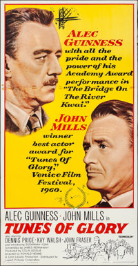 "Tunes of Glory (United Artists, 1960). Folded, Very Fine-. Three Sheet (41"" X 79""). Drama"